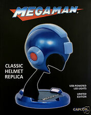 RARE Capcom Megaman Classic Replica BLUE Helmet USB LED Lights Limited Edition!