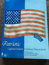 NEW PATRIOTIC AMERICAN FLAG SHIMMERING WINDOW LIGHT DECORATION 4th of JULY USA