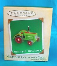 Hallmark Mini Ornament 2004-Antique Tractors-8th in Series-Die-Cast Metal