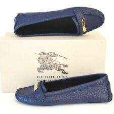 BURBERRY New sz 39 - 9 Authentic Designer Womens Drivers Flats Shoes Blue