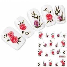 Nagel Sticker Rose Tattoo Blume Nail Art Aufkleber Flower Neu!