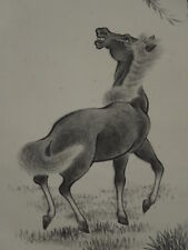 Hanging Scroll Japanese Painting Horse Asian art ink Antique Japan Picture 886
