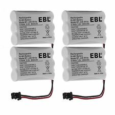 4x 800mAh Phone Battery For Uniden BT-446 BP-446 BT-1005 ER-P512 TRU-446 TRU-448
