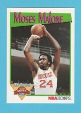 BASKETBALL - NBA PROPERTIES INC. - NBA HOOPS CARD NO. 323 - MOSES  MALONE - 1991