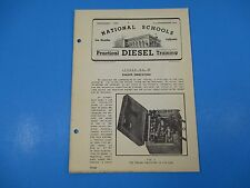 1940's Diesel Training National Schools Lesson #48 Engine Indicators 16pgs M950