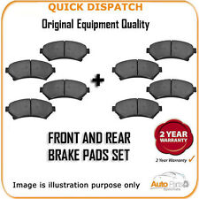 FRONT AND REAR PADS FOR TOYOTA AURIS 1.33 VVTI 12/2008-