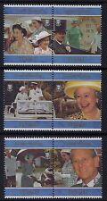 1997 TUVALU QUEEN ELIZABETH II GOLDEN WEDDING SET OF 6 FINE MINT MNH/MUH