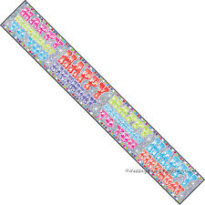 9ft Sparkly Holographic Happy Birthday Party Banner Room Decoration Blue & Red