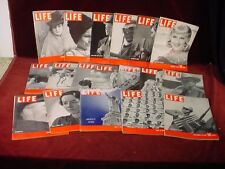 1939 LIFE MAGAZINE Lot 18 Issues PHOTOS Industry Art Actors War Sports Politics
