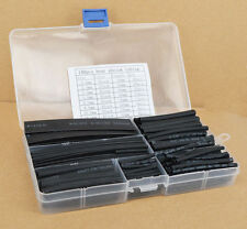 150pcs Wire Cable Sleeving 2:1 Halogen-Free Heat Shrink Tubing Tube Balck +Box
