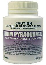 ILIUM PYRAQUANTAL DOG WORMER 10KG X 100 TABLETS