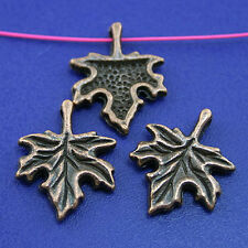 25pcs copper-tone maple leaf charms  H2148