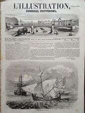 L' ILLUSTRATION 1854 N 596 PRISE D' UN BRICK ET D' UNE SACOLEVE PIRATE, A ZEA