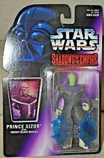STAR WARS SHADOWS OF THE EMPIRE PRINCE XIZOR WITH ENERGY BLADE SHIELD MOSC