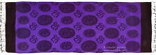 OM PURPLE SARONG ALTAR CLOTH Wicca Pagan Witch Yoga TABLE RUNNER PRAYER SHAWL