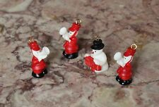 Vtg Doll House Miniature Tiny Christmas Band Snow Man Figure Accessory Lot