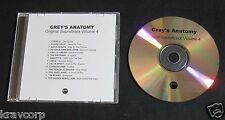 GREY'S ANATOMY SOUNDTRACK VOL. 4—2011 PROMO CD—THE NATIONAL/LYKKE LI