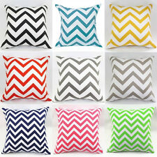 1PC Arrival Waved Stripes Cotton Linen Throw Pillow Cases Cushion Cover Home New