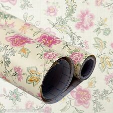 Contact Paper Vinyl Film Self Adhesive Floral Wallpaper Drawer Liner Paper New