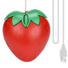 Strawberry Style Optical USB LED Wired Game Mouse Mice For PC Laptop Computer