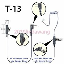 2-wire Surveillance Earpiece for Icom IC-F3001 IC-F4001  Portable radio