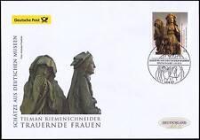 BRD 2015:Tilman-Riemenschneider-Skulptur Post-FDC Nr 3180 Berliner Stempel 1605