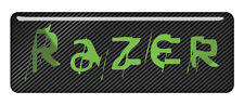"Razer 2.75""x1"" Chrome Domed Case Badge / Sticker Logo"