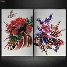 Flower of All Sorts Tattoo Flash Design Sketch Book Body Art 53 Pages A4 Supply