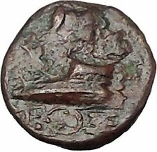 300BC Authentic Ancient Greek City Coin Greek Coin Athena Prow of galley i50564