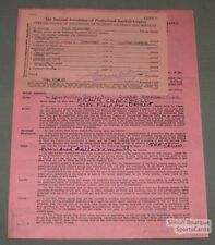 1947 Quebec Alouettes Frank Cracchiolo Signed Contract