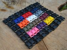 50 ~ 3/8 Paracord Buckles Curved Buckles.  Mix & Match from 13 Vibrant COLORS!!!