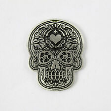 Biker Chopper Poco Logo Sugar Skull Day of the Dead Pin Anstecker Anstecknadel