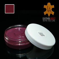 Burgundy Leather Colour Dye Restoration Balm for FERRARI CARS Repair Seats