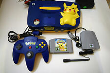 Nintendo N64 Console Video Game System POKEMON PIKACHU Complete Tested USA