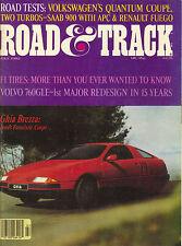 VINTAGE MAY 1982 ROAD & TRACK MAGAZINE-GHIA BREZZA, VOLVO 760GLE, SAAB 900
