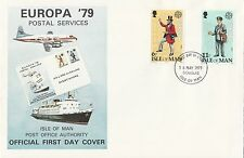 (30267) CLEARANCE GB Isle of Man FDC Postal Services EUROPA - 16 May 1979