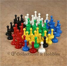 NEW Set of 60 Standard Board Game Pawns Playing Pieces - 6 Colors