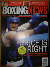 BOXING NEWS 15 AUGUST 2008 DAVID PRICE REACHES OLYMPIC QUARTERS