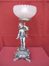 1910s ART NOUVEAU CONVERTED CHERUB GAS LAMP