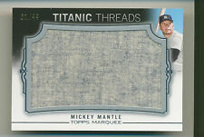 MICKEY MANTLE 2011 Topps Marquee Titanic Threads JUMBO JERSEY 61/99 #7 YANKEES *