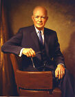 Art Oil painting PRESIDENT of America - Dwight D. Eisenhower holding glasses