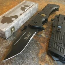 US ARMY Spring Assist RESCUE Folding Pocket Tactical Military TANTO Blade Knife