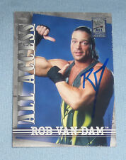 Rob Van Dam RVD Signed 2002 Fleer All Access WWE Card 25 Autograph ECW Wrestling