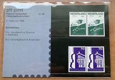"""Nederland PTT mapje 60 """"Erasmus Universiteit Concertgebouw/orkest"""" 1988"""