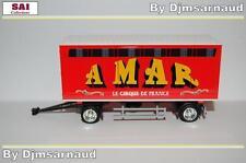 Remorque Tolée 2 Essieux Cirque AMAR Transport de Fauves - SAI - SAI 8644 - 1/87
