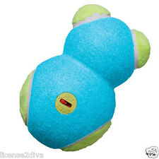 KONG DOG BEAR TENNIS BALL W/ON & OFF SQUEAKER SWITCH! BLUE BEAR! NEW! FREE SHIP!