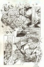 Fantastic Four #12 p.24 - Thing Fist Fight Action - 1998 art by Anthony Williams