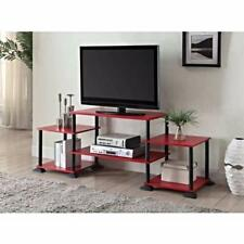 TV Stand Entertainment Center Storage Cabinet Furniture Media Console Red