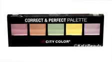 City Color Correct & Perfect Palette-Concealer Skin Tones & Under Eyes Conceal.