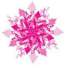 20  WATER SLIDE NAIL ART DECALS TRANSFERS PINK CHRISTMAS SNOWFLAKES